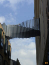 Twisted bridge in London's Covent Garden